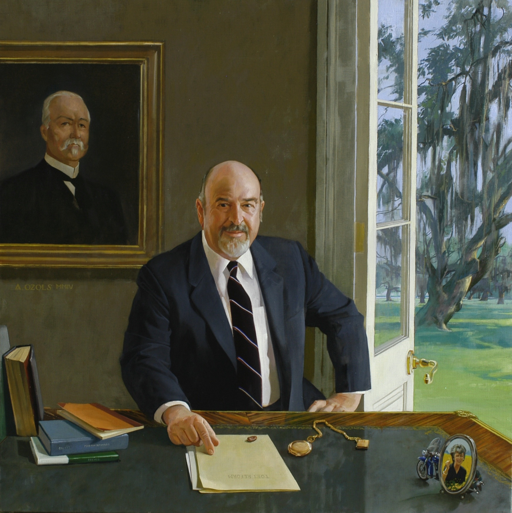Portrait of Governor Foster, by Auseklis Ozols